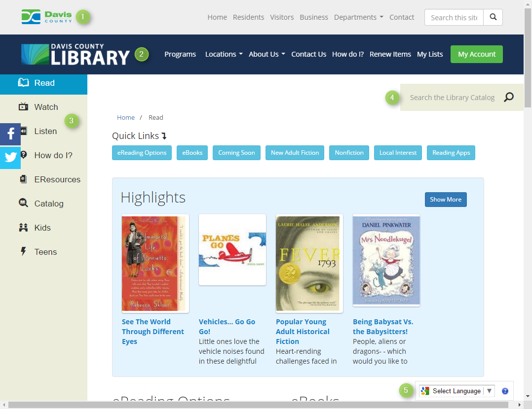 Booklist Page Screenshot